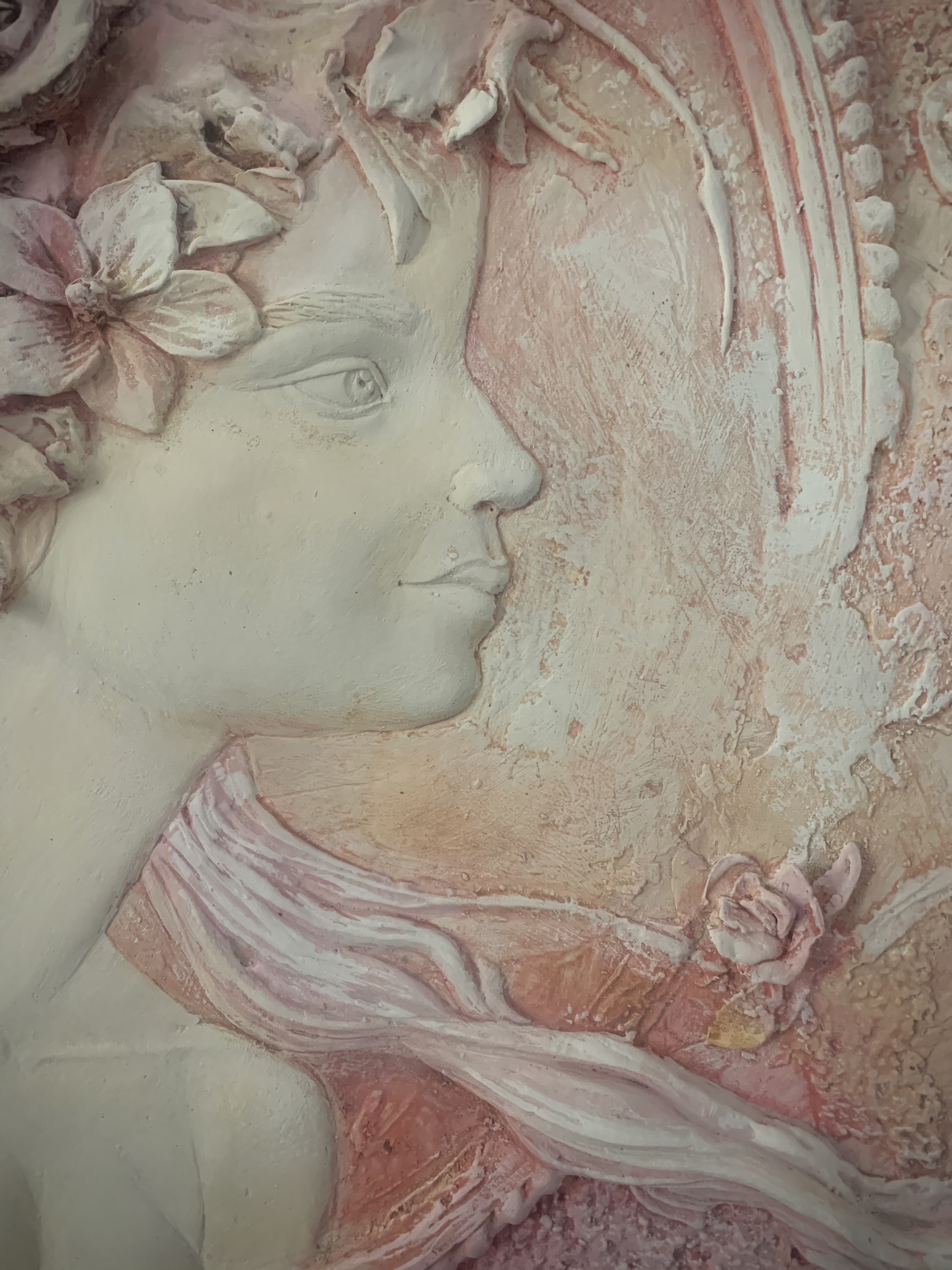 plaster cameo made from michela ciappini