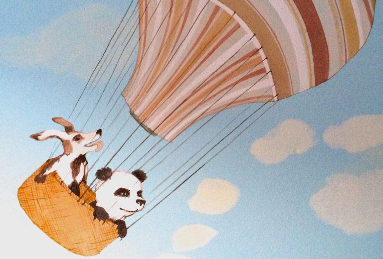 Wall painting Panda