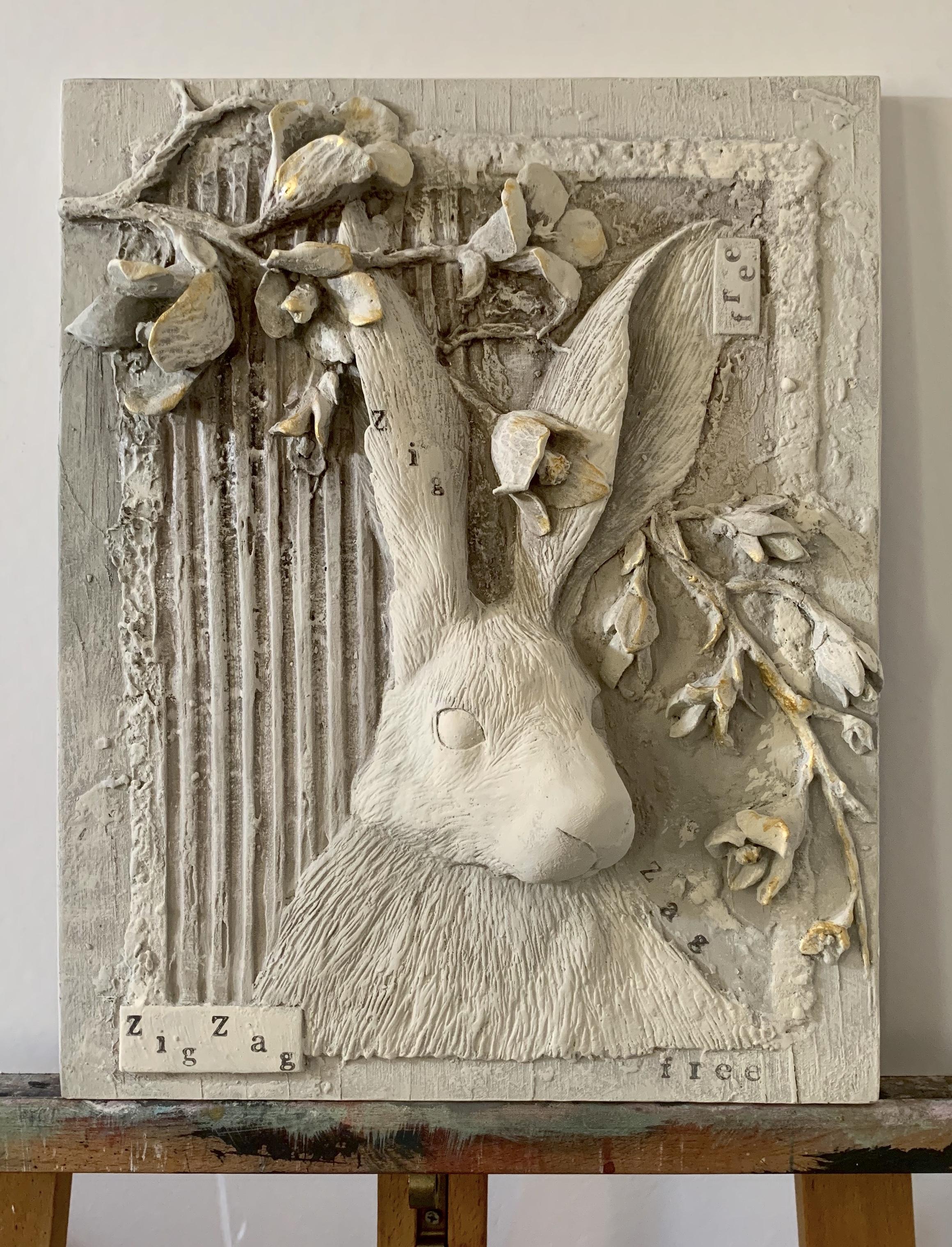 white zig zag plaster made from Michela ciappini