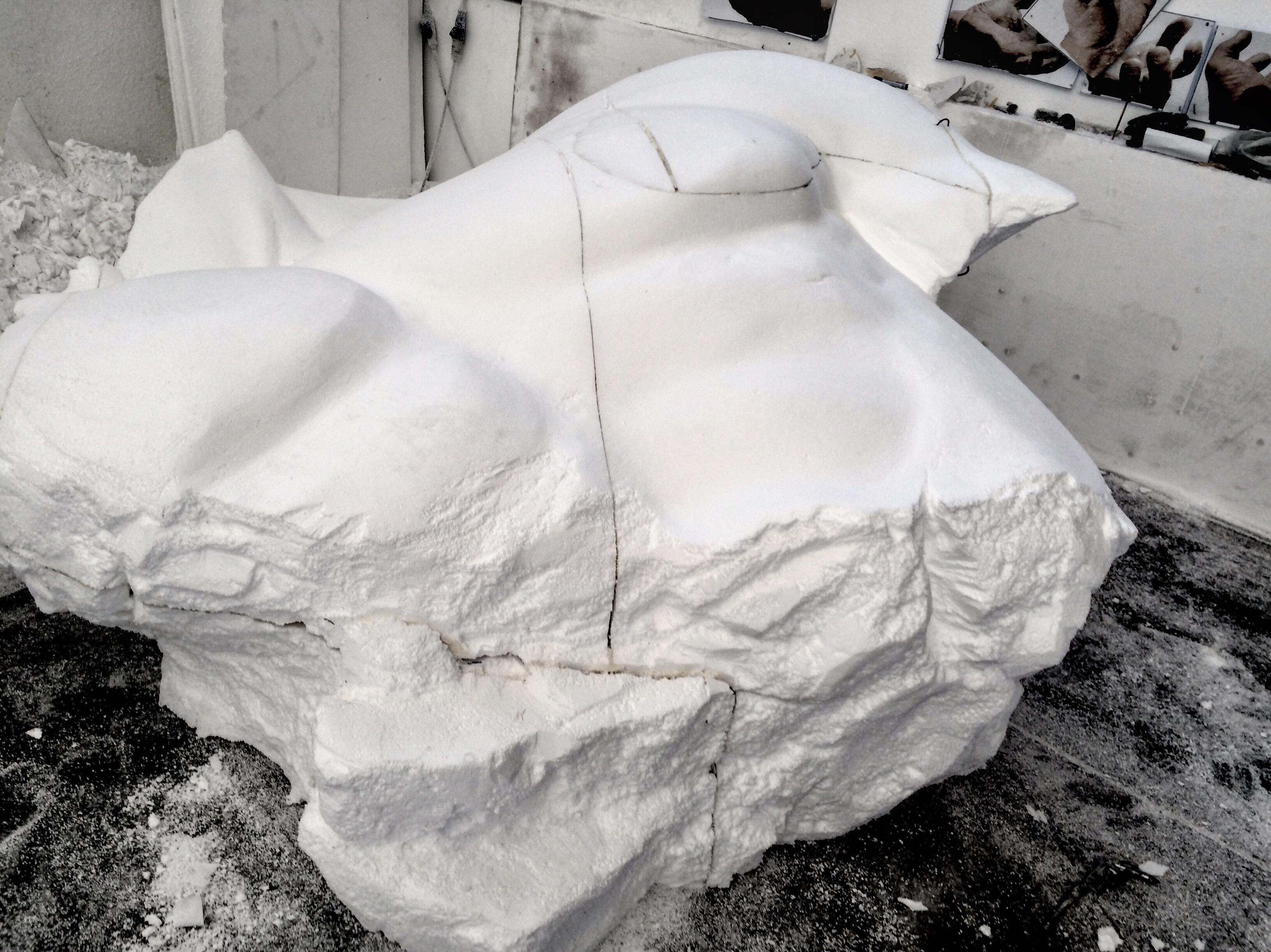 Human breast sculpture detsail