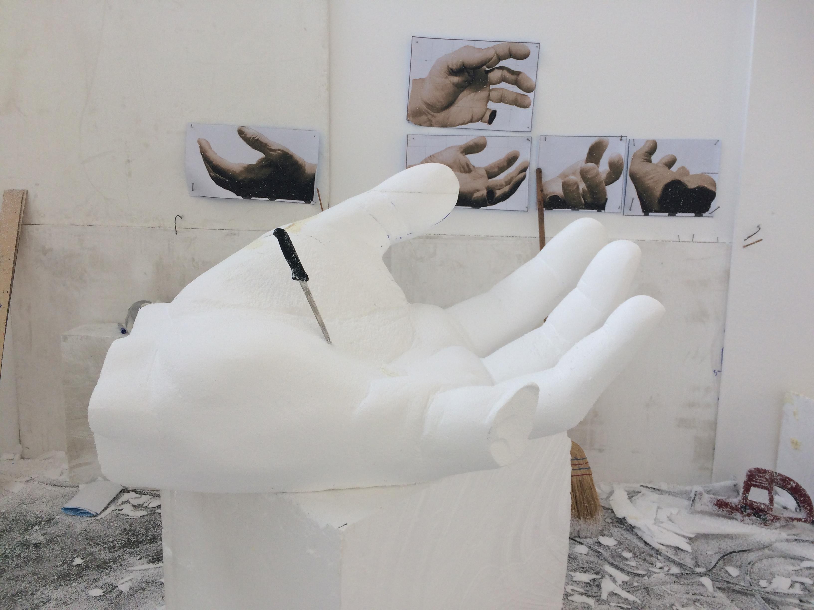 Hand sculpture detail