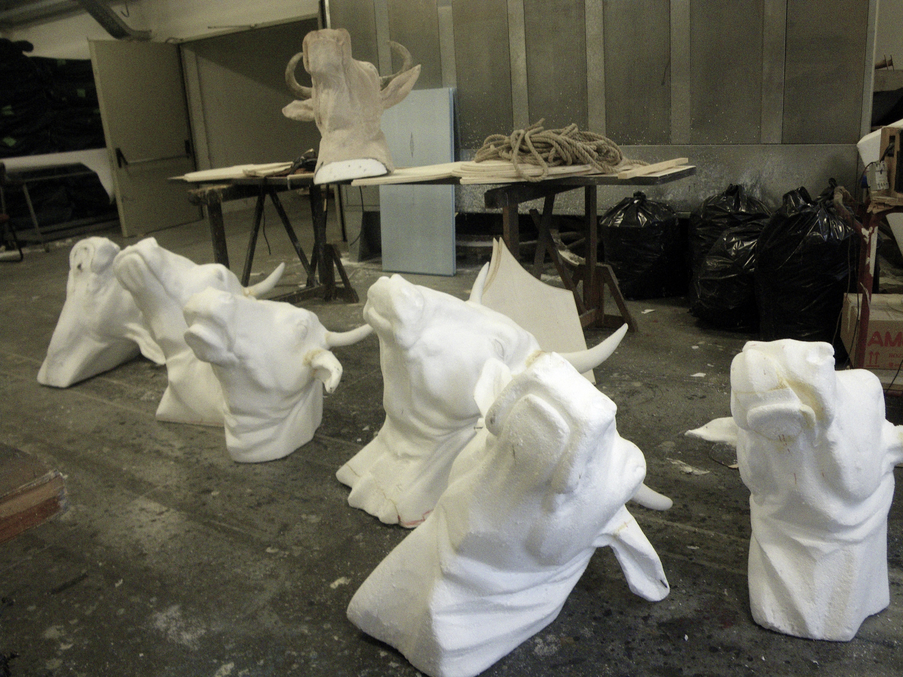 Cow's heads work in progress
