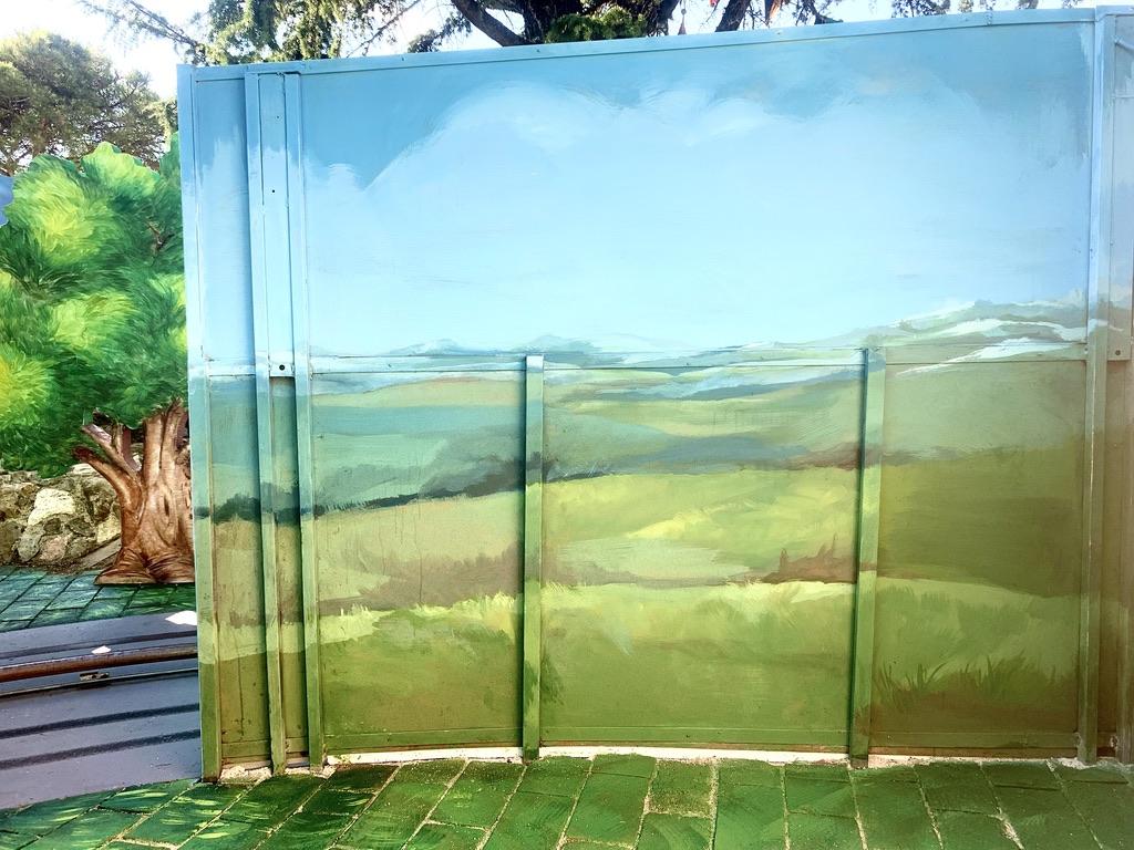backdrops landscape acrilic paint