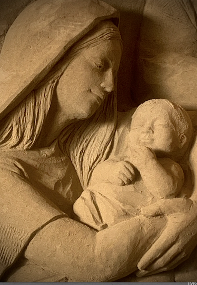 Holy Mary and Jesus detail